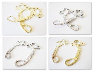 Hackamore Exquisite silber oder gold-messingfarbig verziert