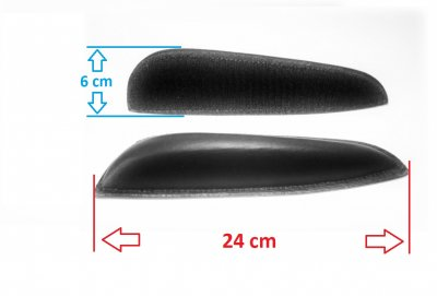 Klettbare Kniepauschen SLIM - mit Klett an der Unterseite