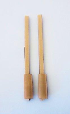 Paar Englische Steigbügelriemen mit 2,5 cm Breite - Farbe -  Natur / Beige / Cognac