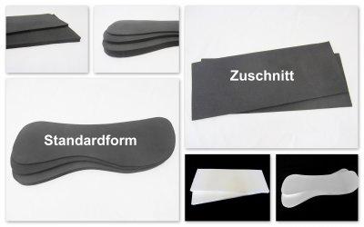 1 Paar Einlagen für Sattelunterlagen oder Pads, verschiedene Formen und Materialien