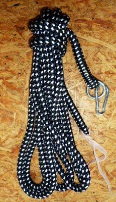 7m schwarz-weiß,Arbeitsseil / Bodenarbeitsseil / Ring Rope