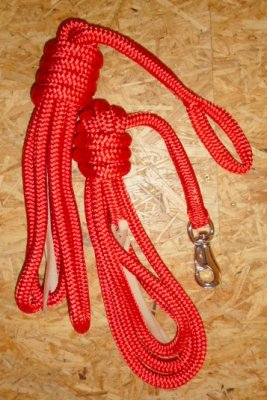 Arbeitsseil / Bodenarbeitsseil / Ring Rope, Rot