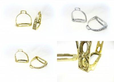 Spanisch - Portugiesisch Barocke Steigbügel Silber oder Goldfarben - 1 Paar