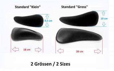 2 Größen - Kniepauschen Standard - mit Klett an der Unterseite