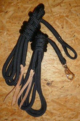 Arbeitsseil / Bodenarbeitsseil / Ring Rope, Schwarz