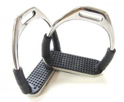 Einzelpaare - Sicherheits-Steigbügel für Kinder mit Gelenken - Silber
