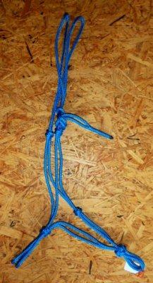 Knotenhalfter Profi - Blau