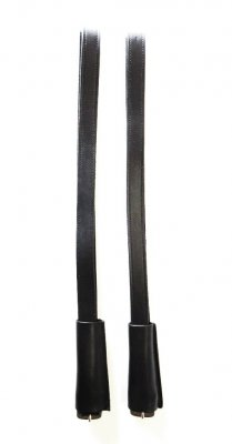 Paar Englische Steigbügelriemen mit 2,5 cm Breite - Farbe -  Schwarz / Dunkelbraun