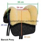 Grandeur Fellsattel Tomentum Barock Pony aus robustem Nadelflies