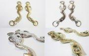Barocke-Akademische Hackamore Silber oder Gold-Messingfarbig verziert