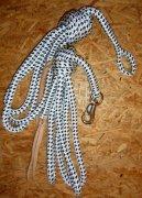 Arbeitsseil / Bodenarbeitsseil / Ring Rope, Weiß-Schwarz
