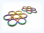 Regenbogenfarben - Gebissloser Zaum Flower - multicolour rainbow