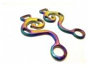 Hackamore Barock Regenbogenfarben, multicolour rainbow - 1 Paar Schenkel, verziert