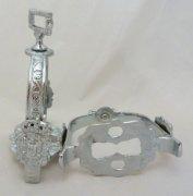 Barocke spanische Steigbügel  Silber mit drehbarer Aufhängung - 1 Paar - Aktionsangebot -