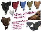 WILDLEDER ALIVIO Reitpad mit WBS Kanal & Kammeraufbau durch befüllbare Filzkissen - klettbar-