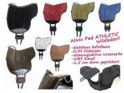 ALIVIO ATHLETIC WILDLEDER  Reitpad WBS Kanal & Kammeraufbau, SLIM Filzkissen - klettbar-