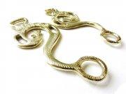 Hackamore Barock gold - messingfarben - 1 Paar Schenkel verziert