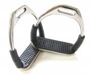 Sicherheits-Steigbügel mit Gelenken - Silber
